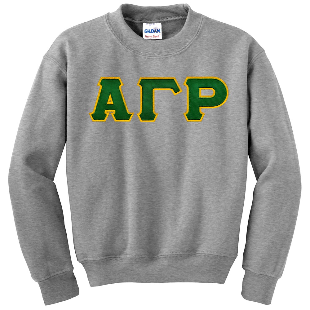 Fraternity & Sorority Lettered Gildan Crewneck Sweatshirt
