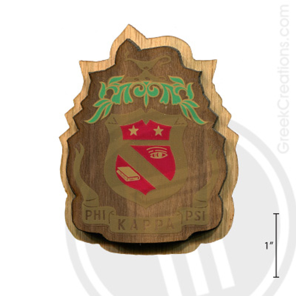 Phi Kappa Psi Large Raised Wooden Crest