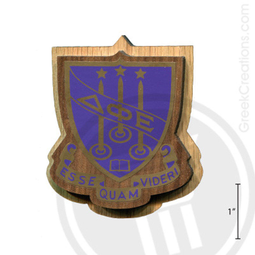 Delta Phi Epsilon Large Raised Wooden Crest