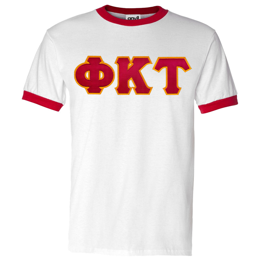 Fraternity & Sorority Lettered Anvil Ringer T-Shirt