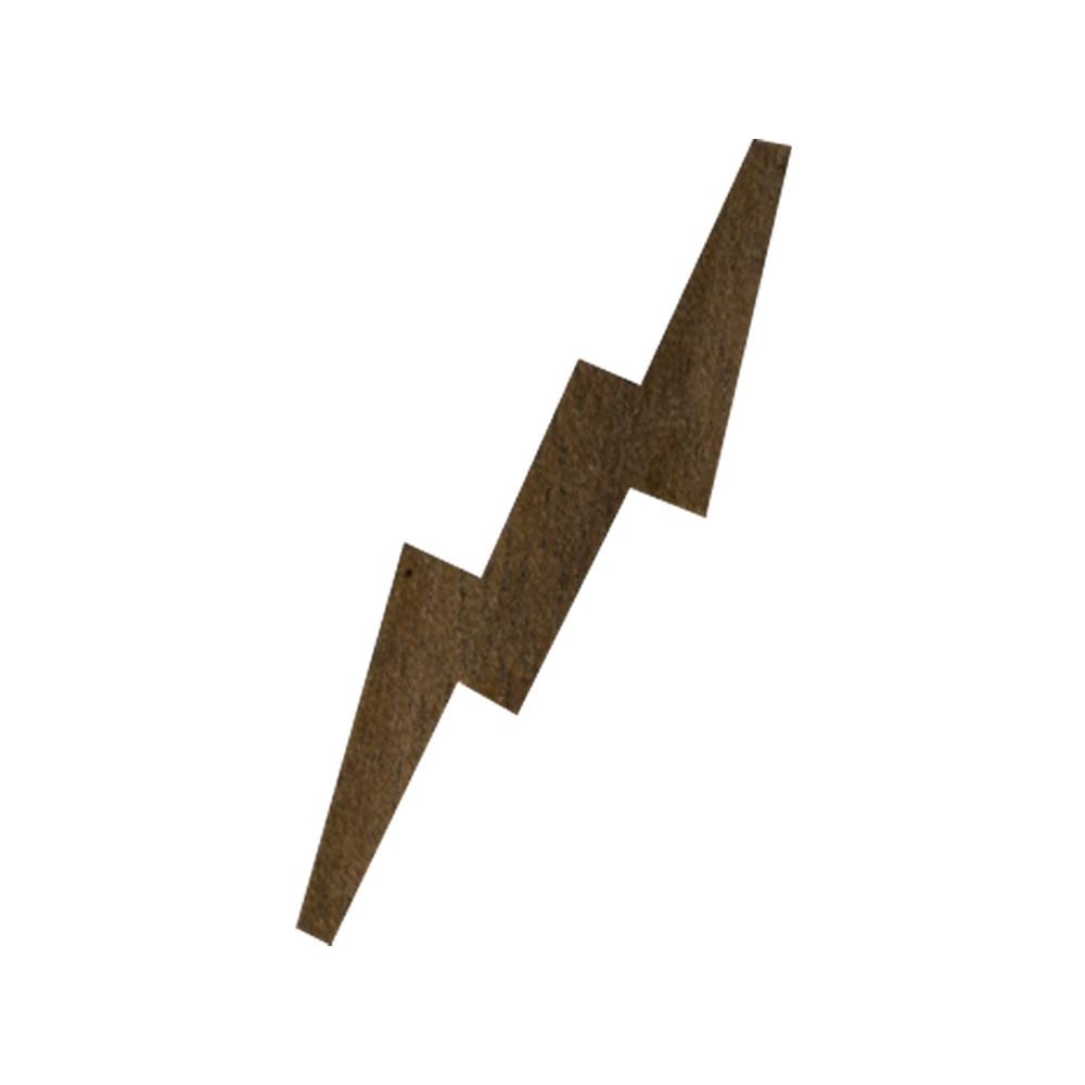 Wooden Lightning Bolt Symbol