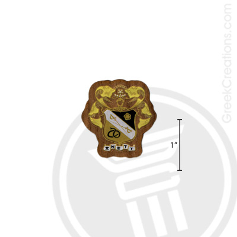 Sigma Nu Small Raised Wooden Crest