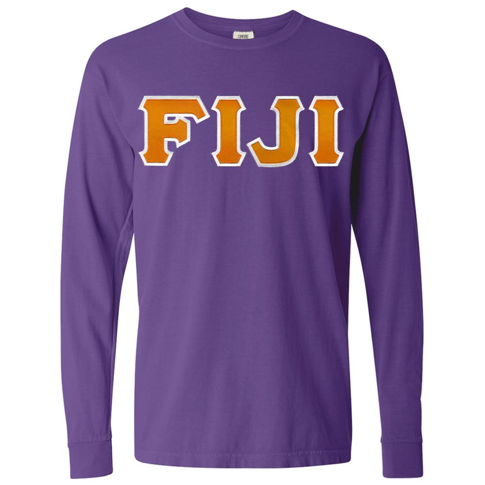 Fraternity & Sorority Lettered Comfort Colors Long Sleeve T-Shirt