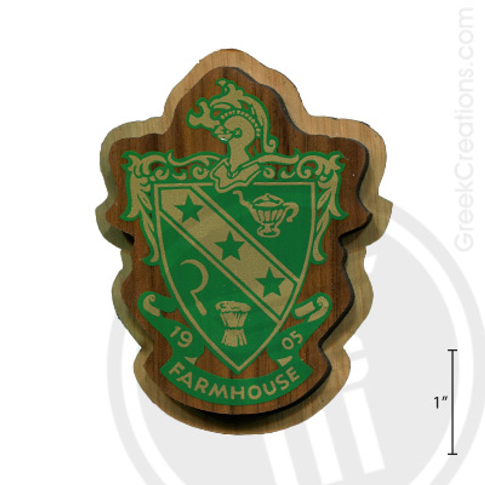 Farmhouse Large Raised Wooden Crest