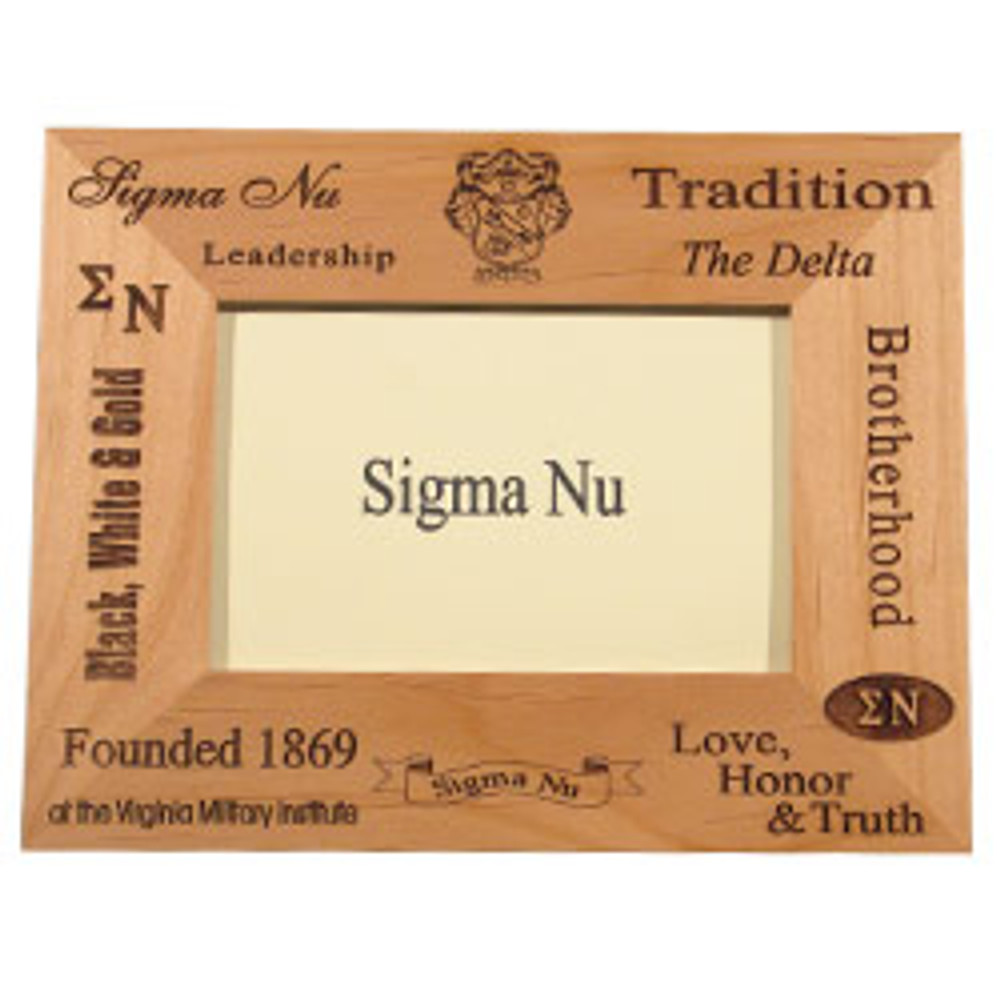 Fraternity Wooden Engraved Picture Frame