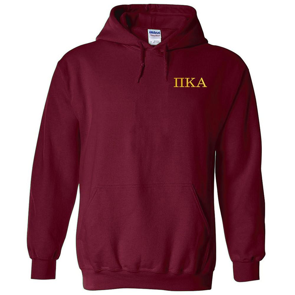 Fraternity & Sorority Embroidered Gildan Hooded Sweatshirt