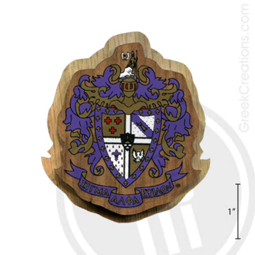 Sigma Alpha Epsilon Large Raised Wooden Crest
