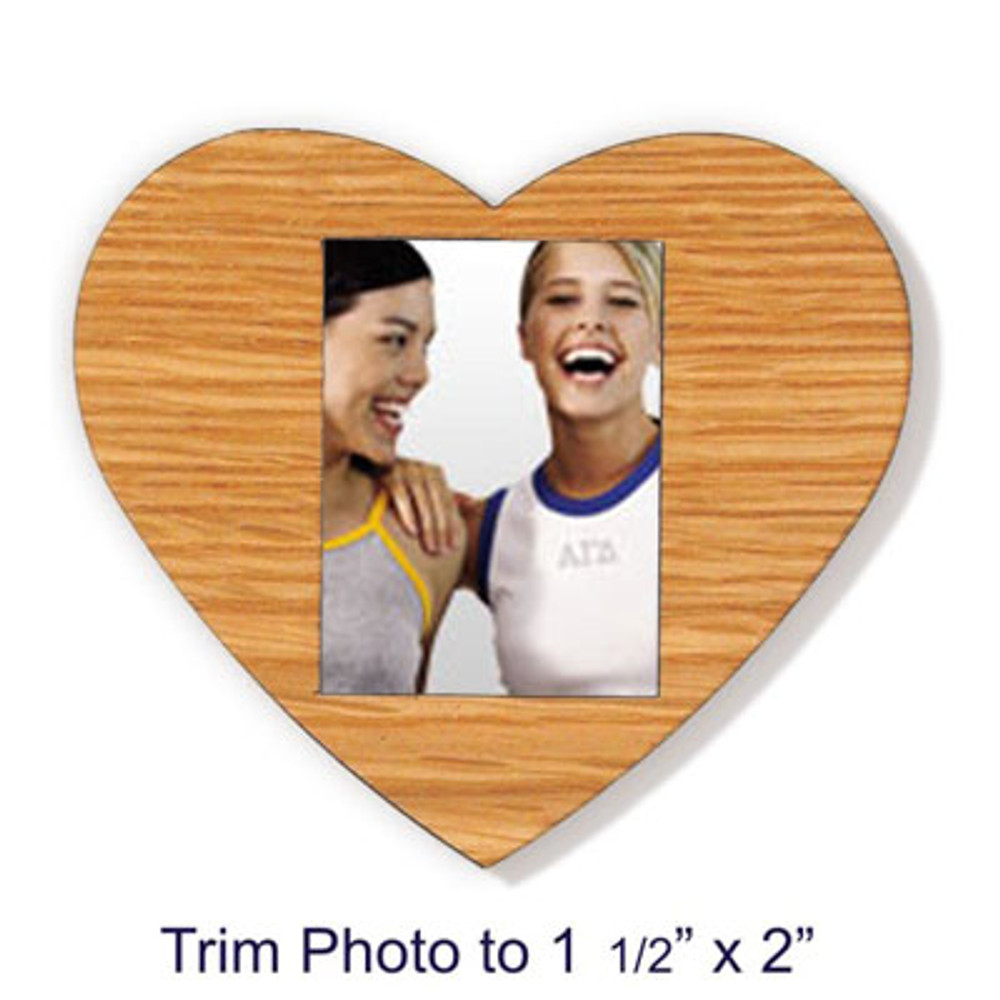 Peel-n-Stick Heart Picture Frame Decoration for Blank Paddles