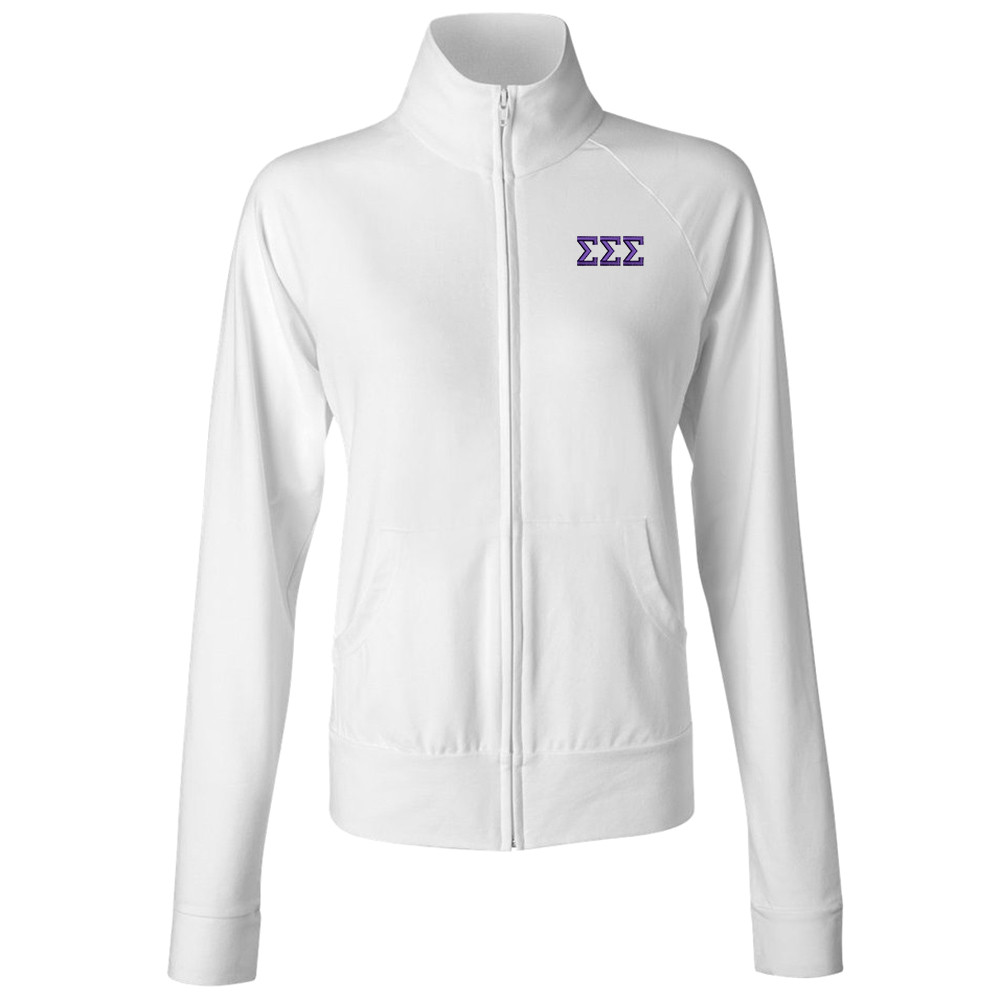 Sorority Embroidered Bella Full Zip Jacket