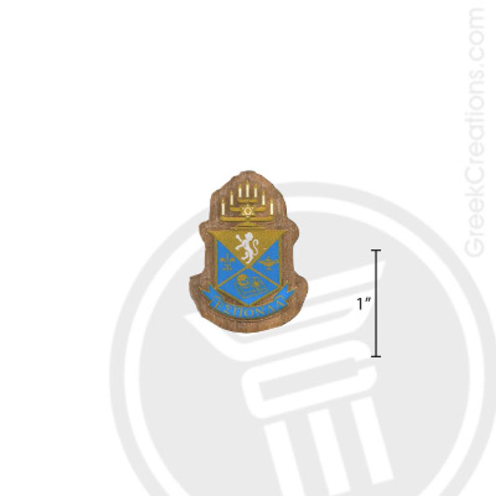 Alpha Epsilon Pi Small Raised Wooden Crest