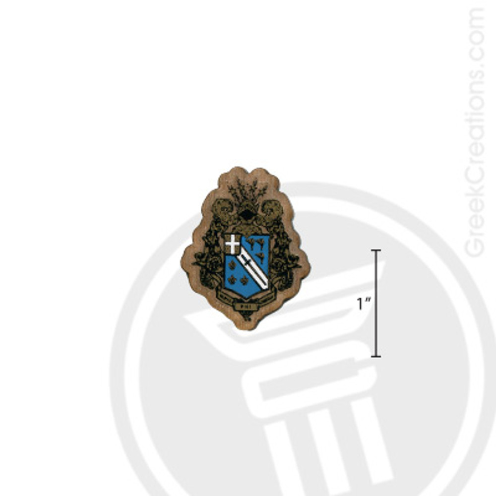 Alpha Phi Omega Small Raised Wooden Crest