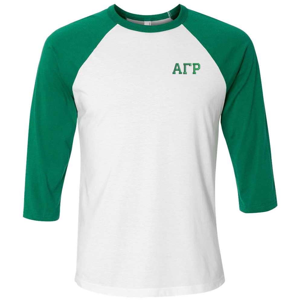 Fraternity & Sorority Embroidered American Apparel 3/4 Sleeve Raglan Jersey