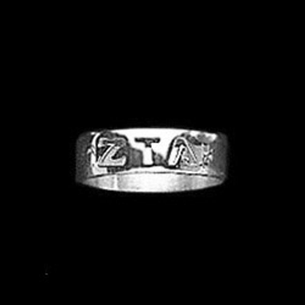 Sterling Silver Sorority Cutout Ring