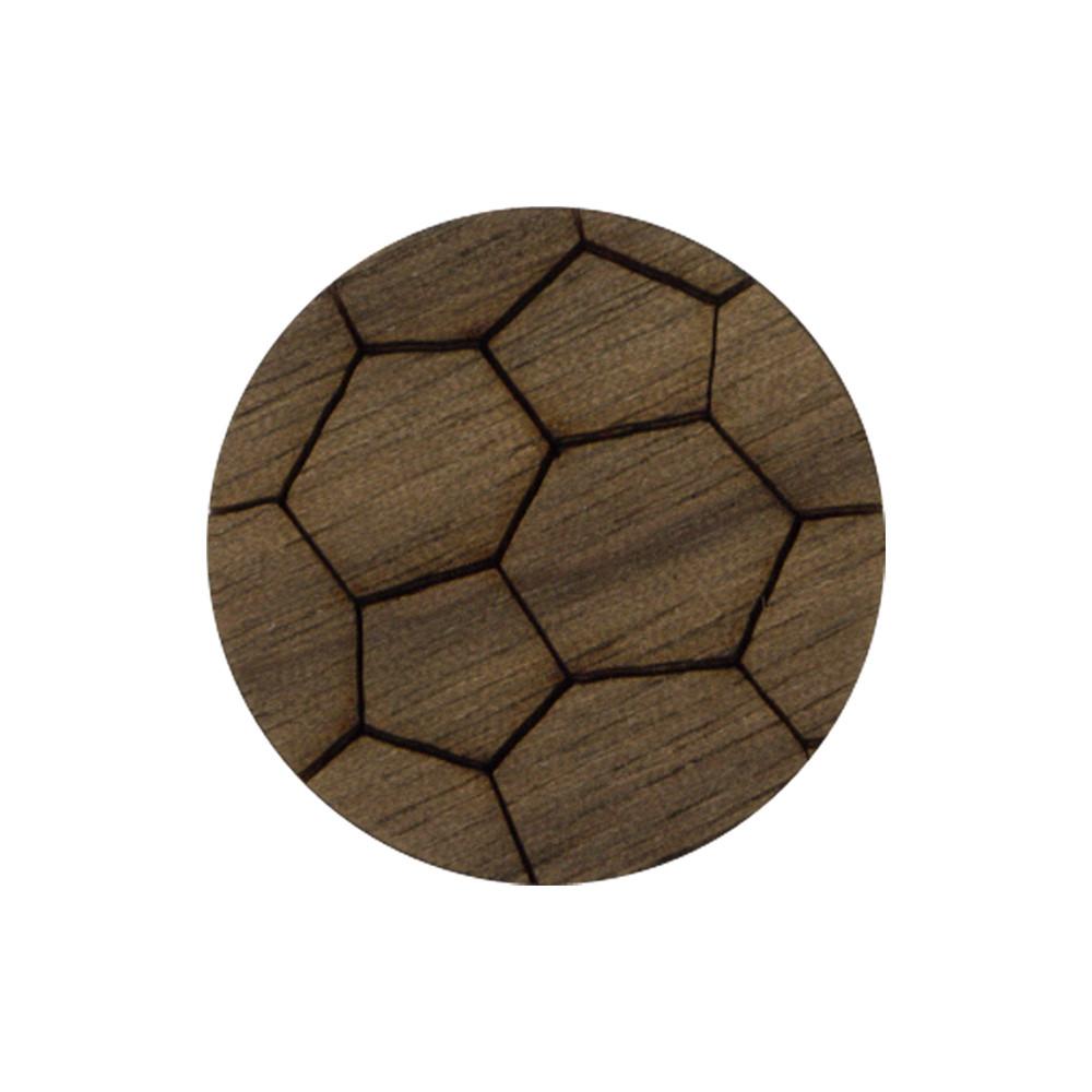 Wooden Soccer Ball Symbol