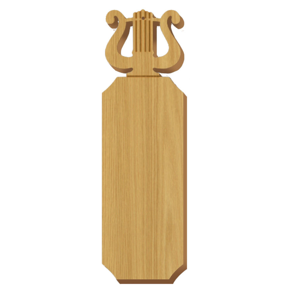 Blank Lyre Symbol Oak Plaque