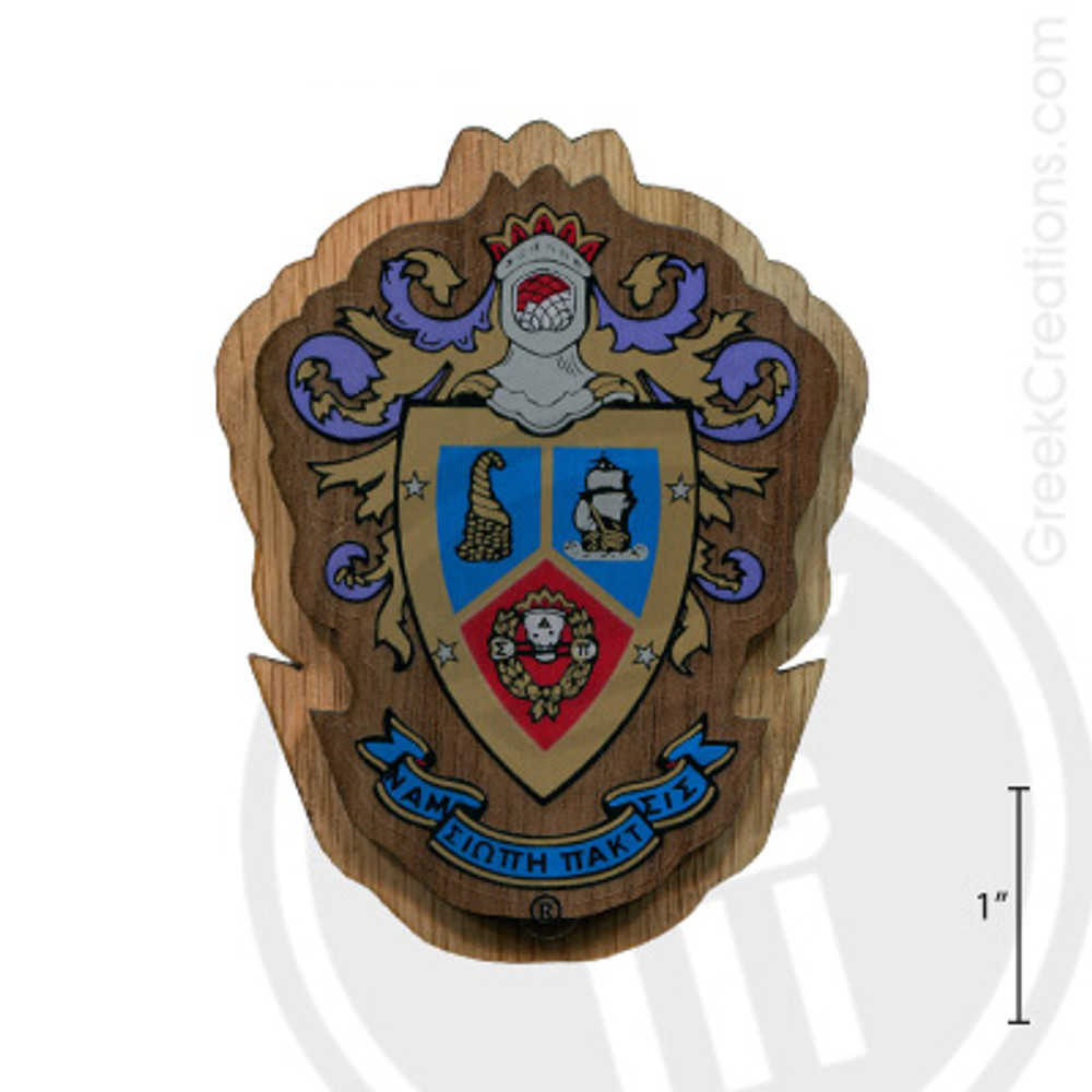 Delta Sigma Pi Large Raised Wooden Crest