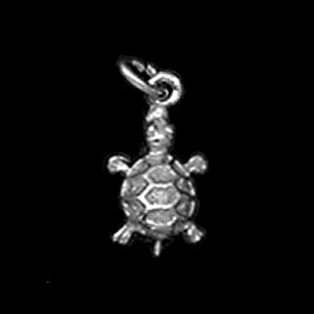 Sterling Silver Small Turtle Symbol