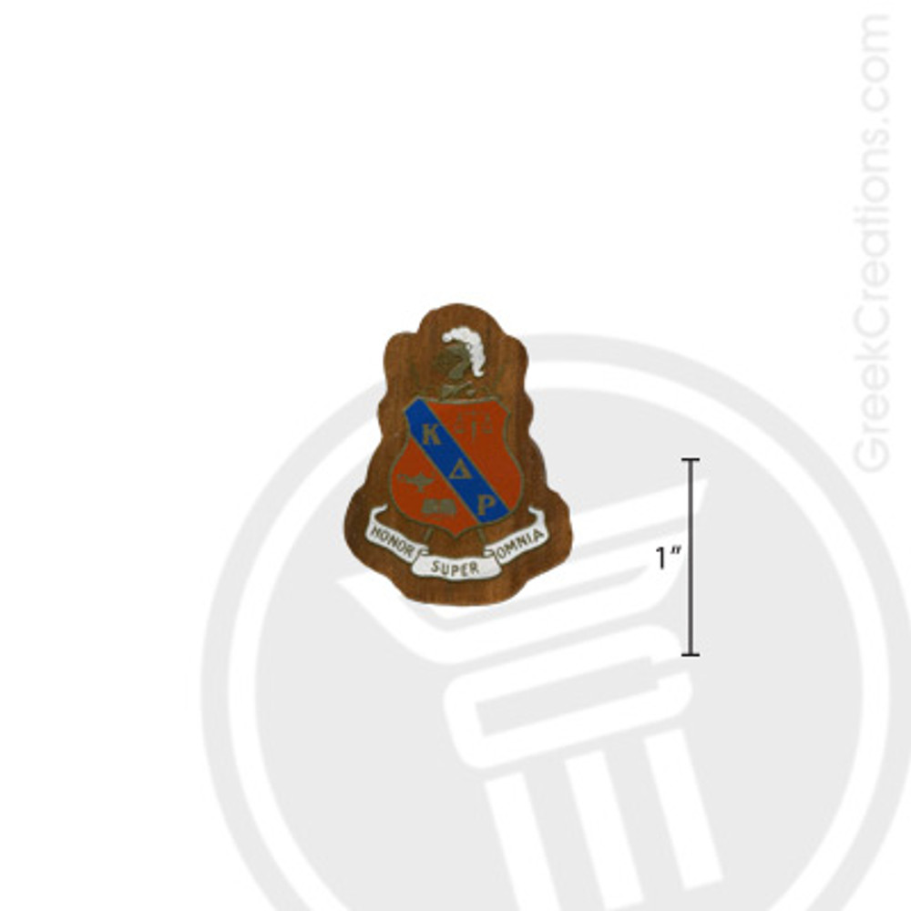 Kappa Delta Rho Small Raised Wooden Crest
