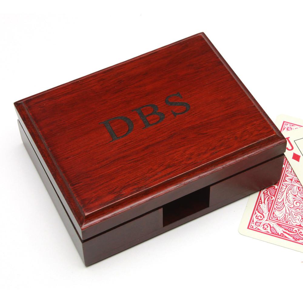Custom Engraved Playing Card Box