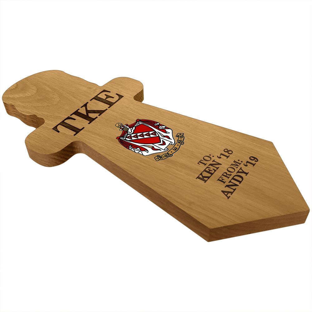 Tau Kappa Epsilon Dagger Paddle Plaque Side