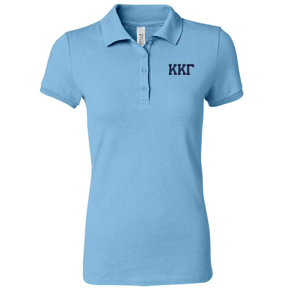 Sorority Embroidered Bella Polo Knit Sport Shirt