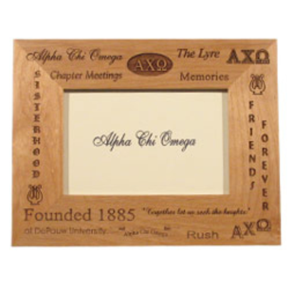 Sorority Wooden Engraved Picture Frame