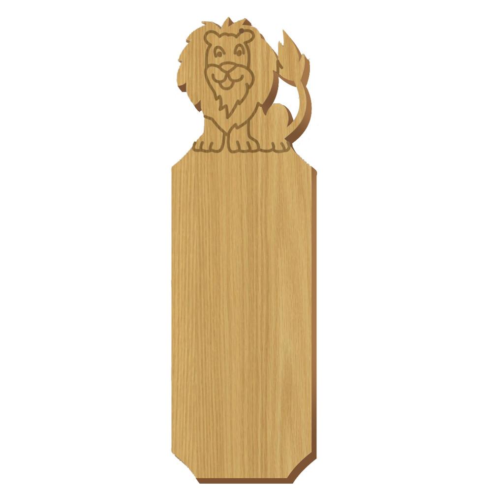 Blank Lion Symbol Oak Plaque