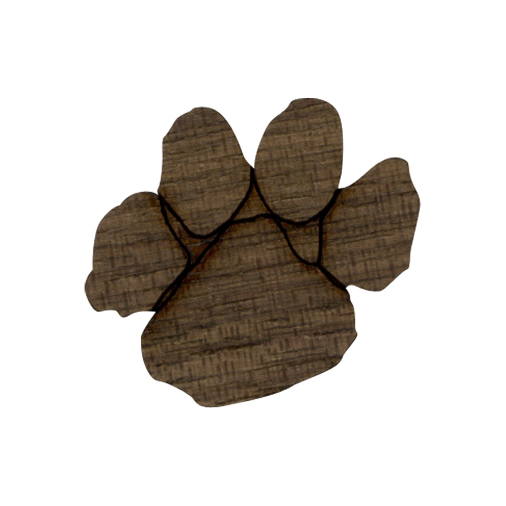 Wooden Tiger Paw Symbol
