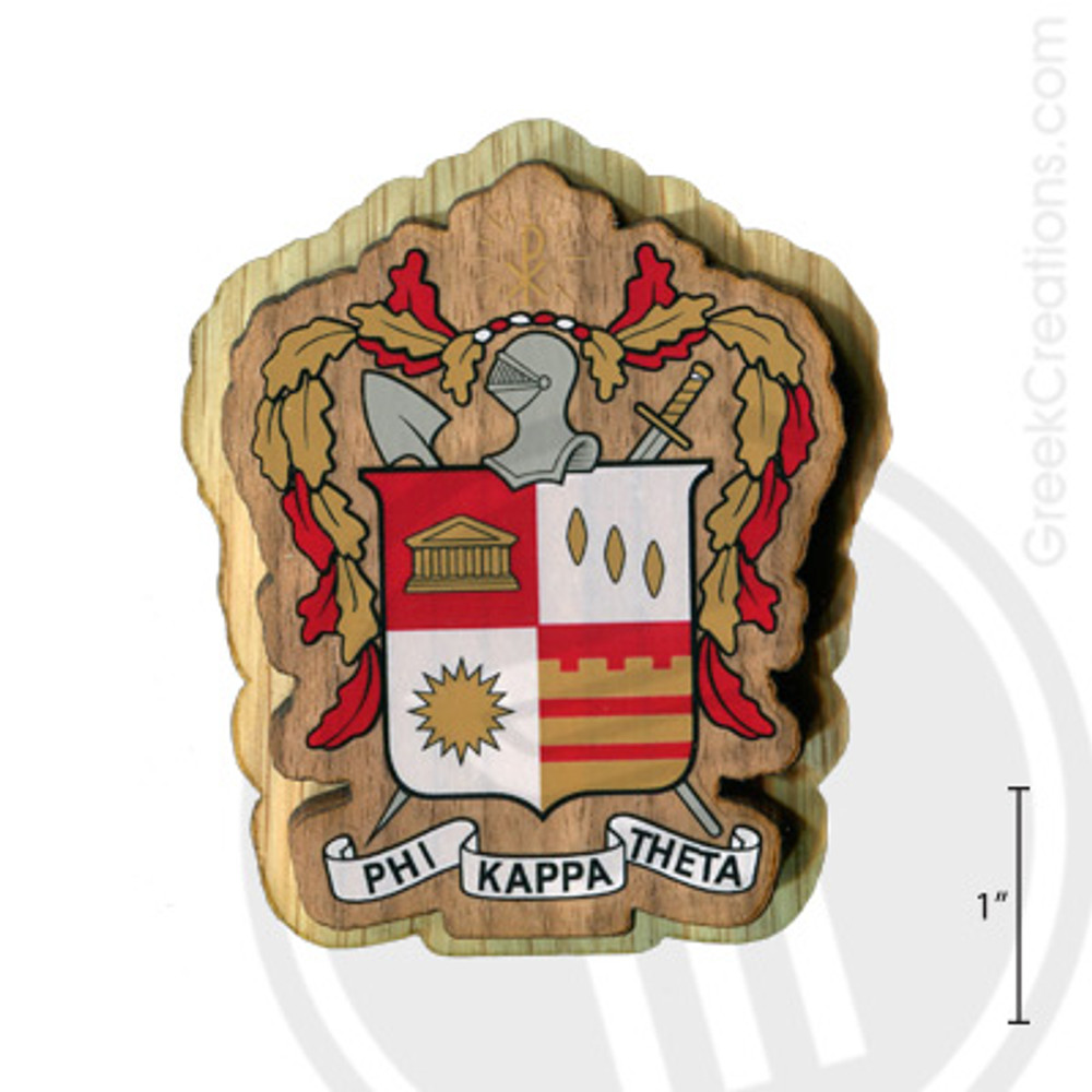 Phi Kappa Theta Large Raised Wooden Crest