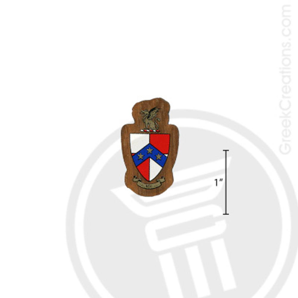 Beta Theta Pi Small Raised Wooden Crest