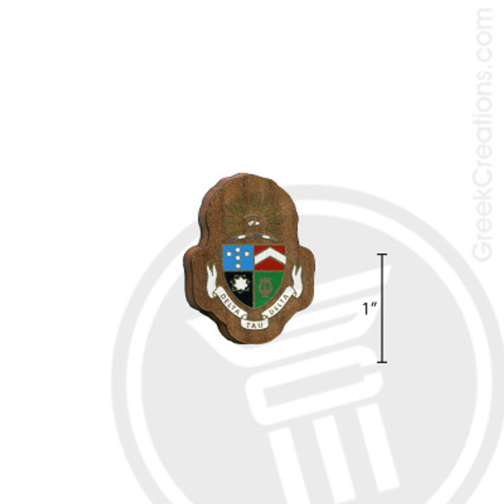 Delta Tau Delta Small Raised Wooden Crest