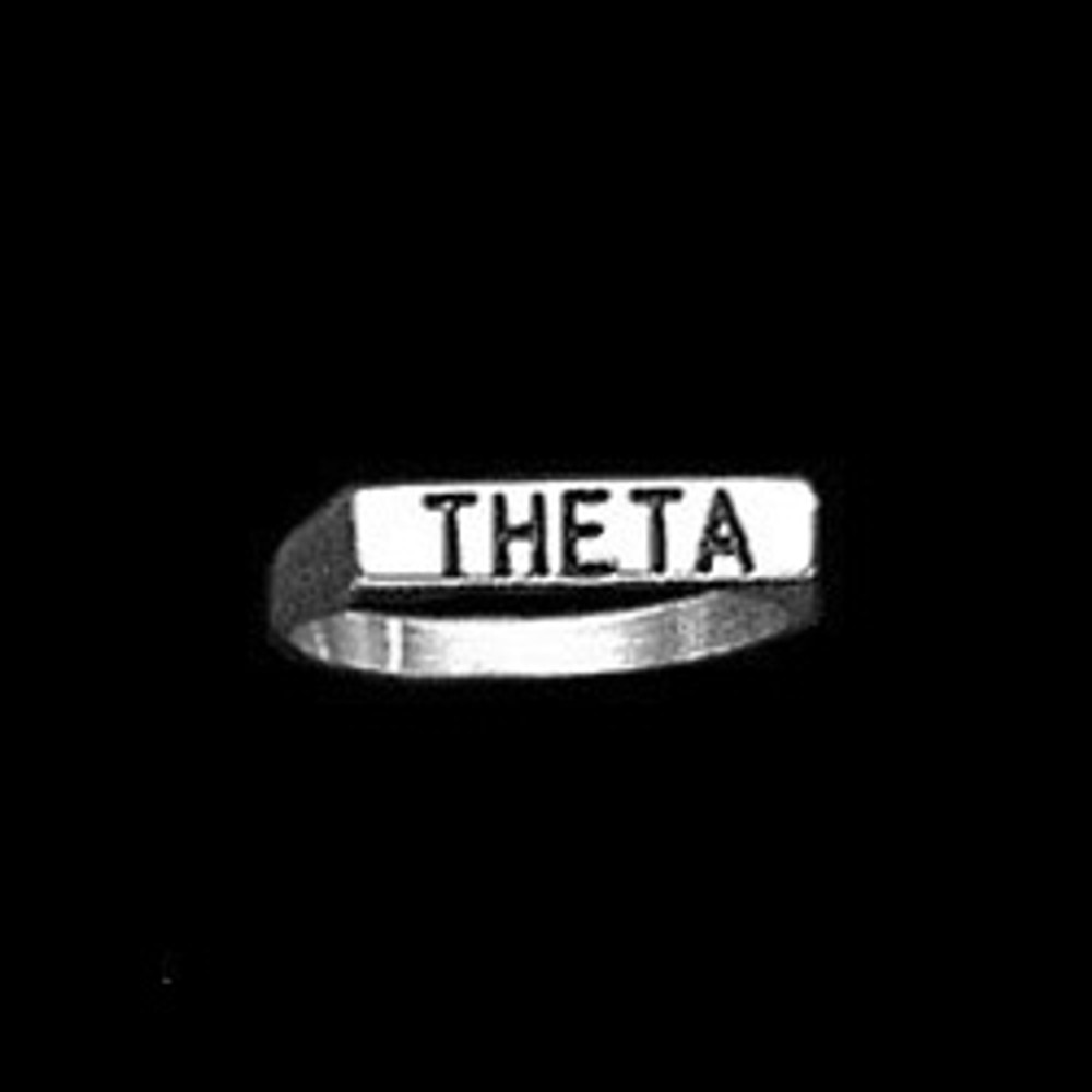 Sterling Silver Sorority Deep Cut Ring with Antique Letters