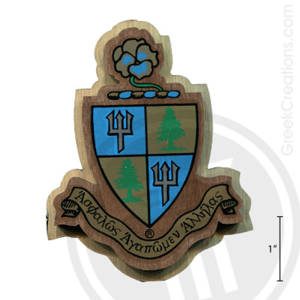Delta Delta Delta Large Raised Wooden Crest