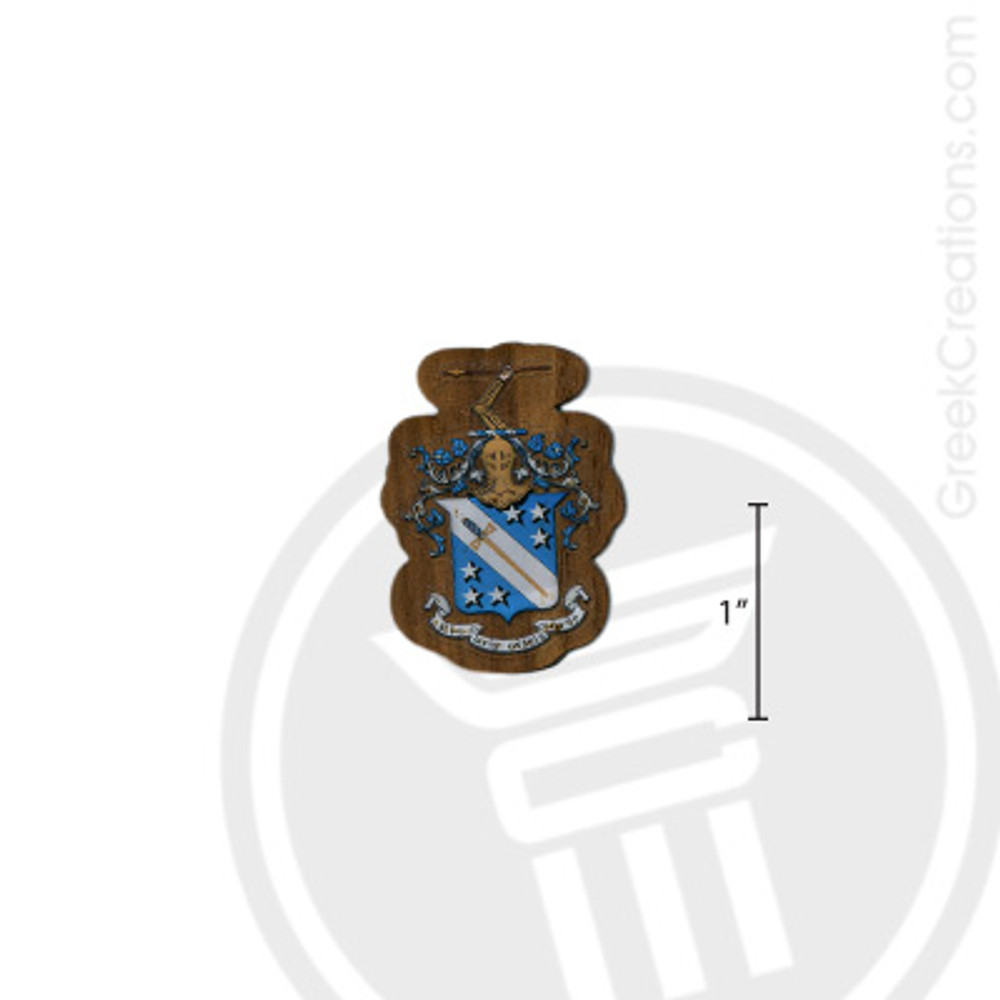 Phi Delta Theta Small Raised Wooden Crest