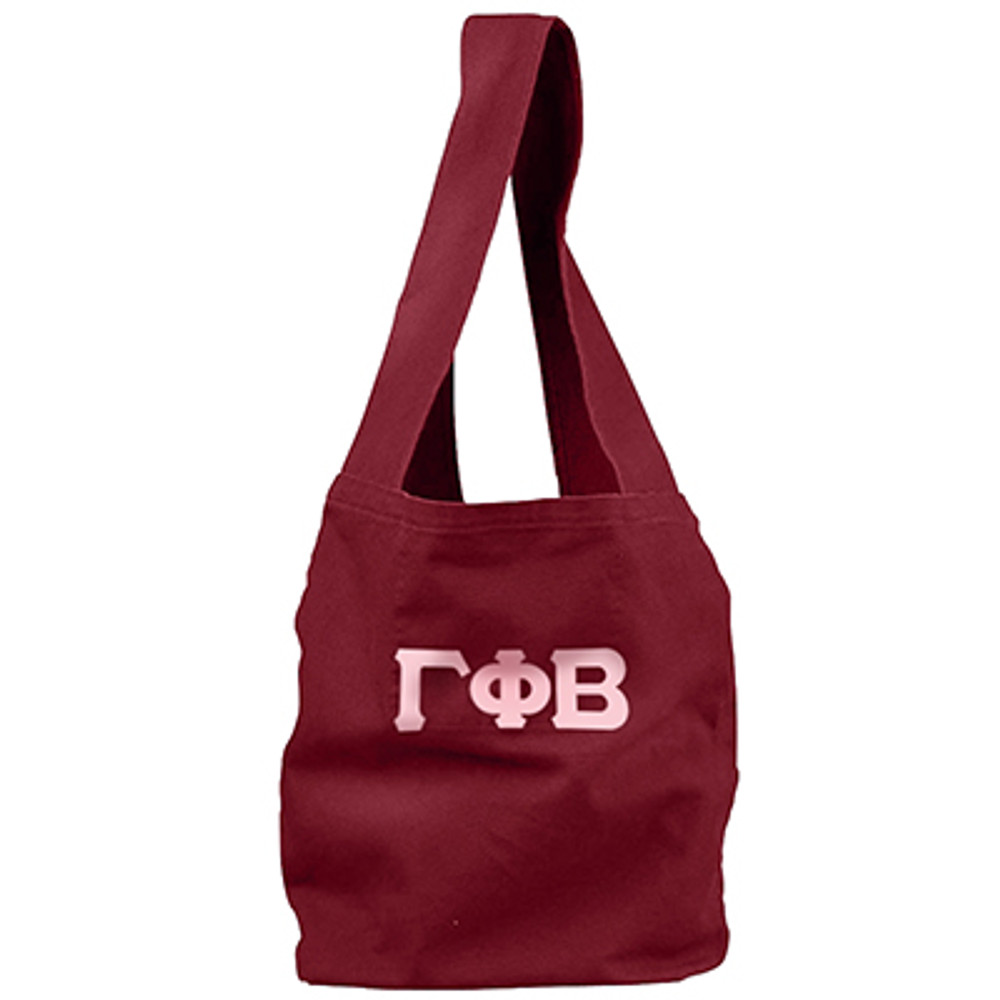 Sling Bag with Sewn-On Letters