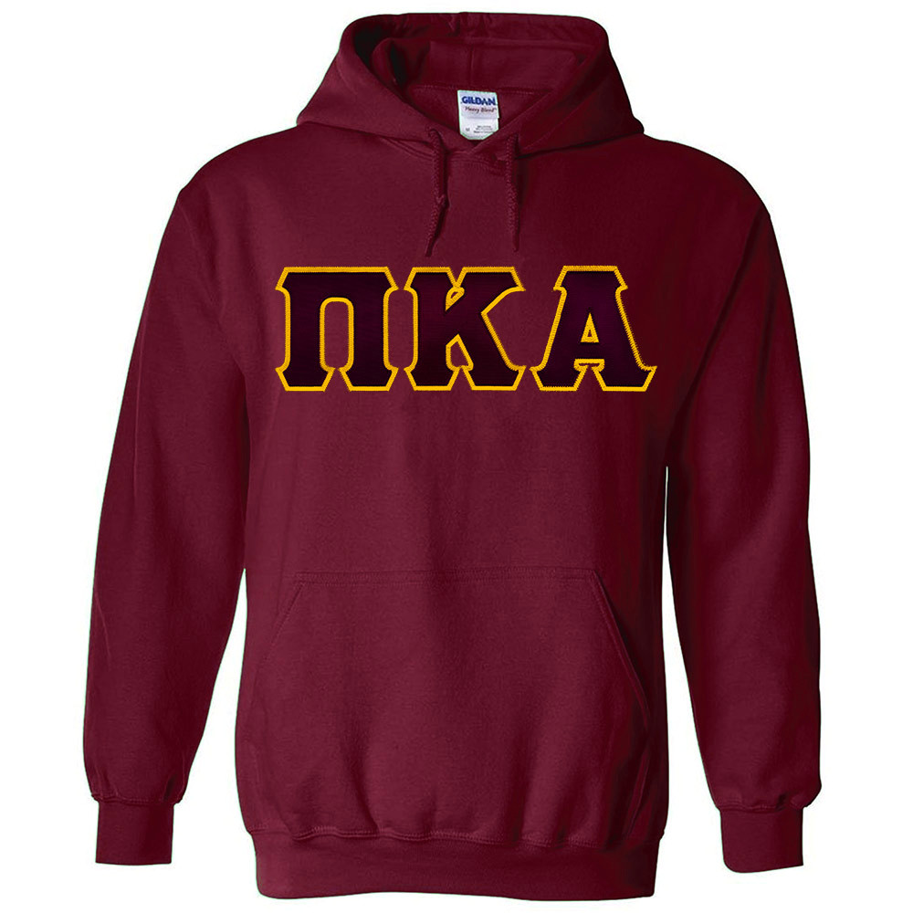 Fraternity sorority premium letter hoodie for Sorority sewn on letters