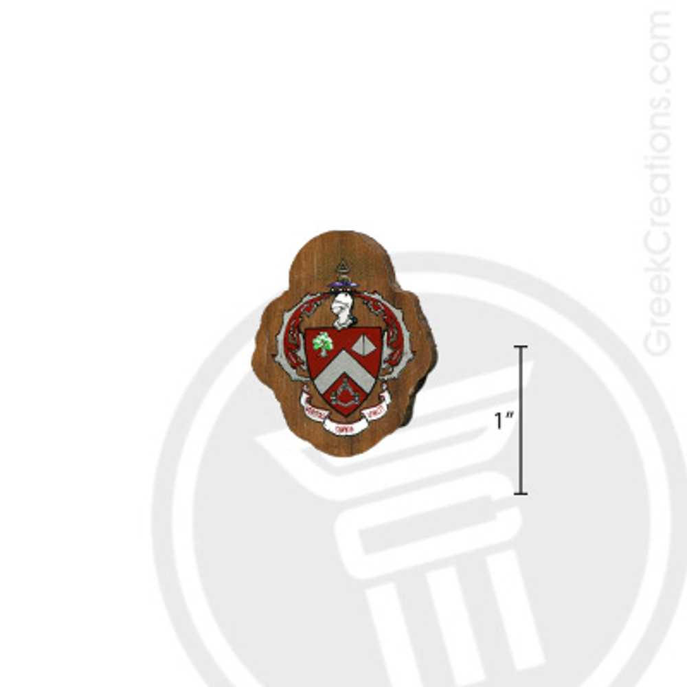 Triangle Small Raised Wooden Crest