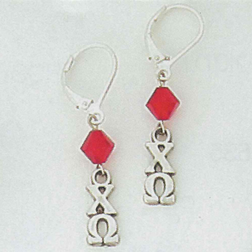 Sterling Silver Lavalier Earrings with Swarovski Crystal