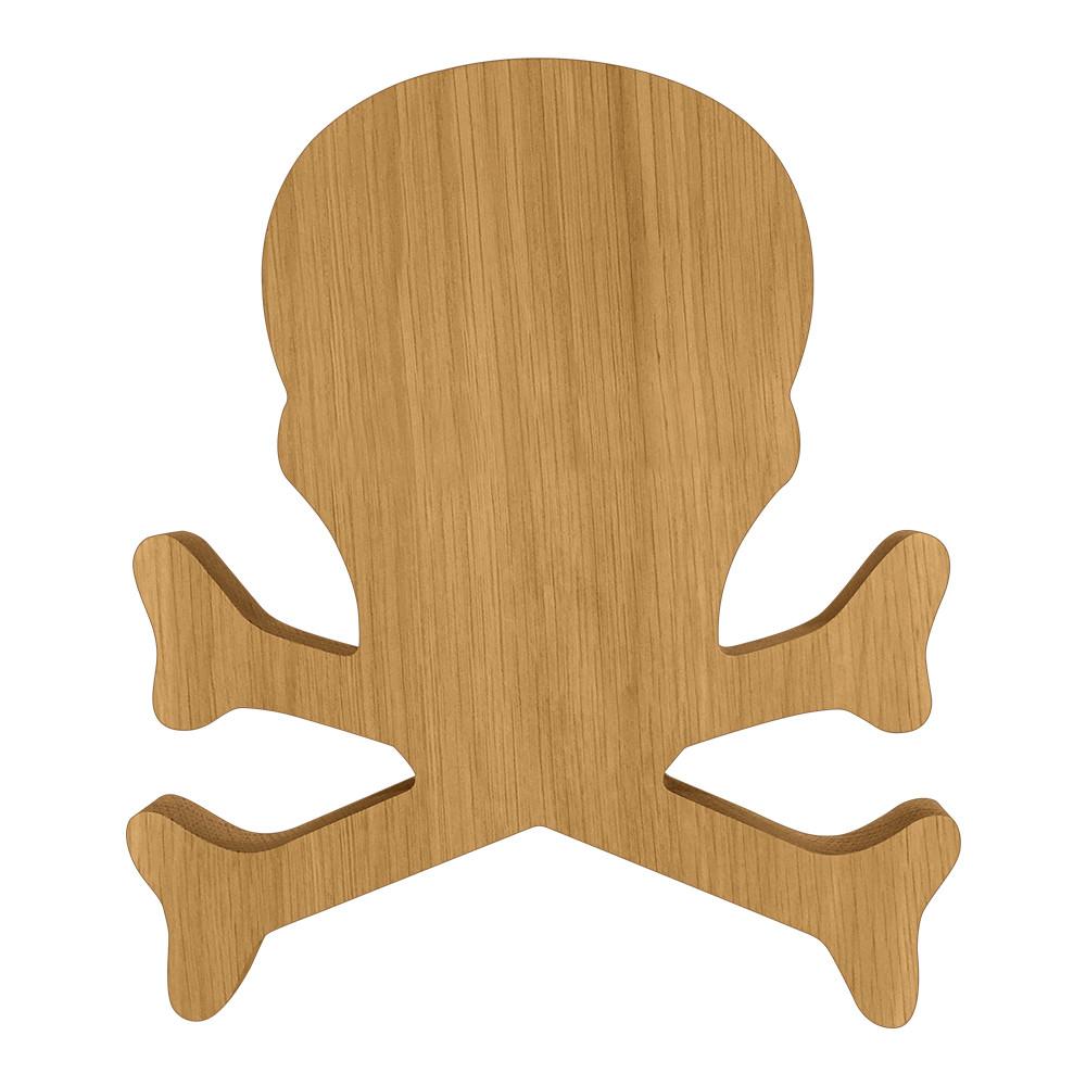 Blank Wooden Skull and Crossbones Board or Plaque