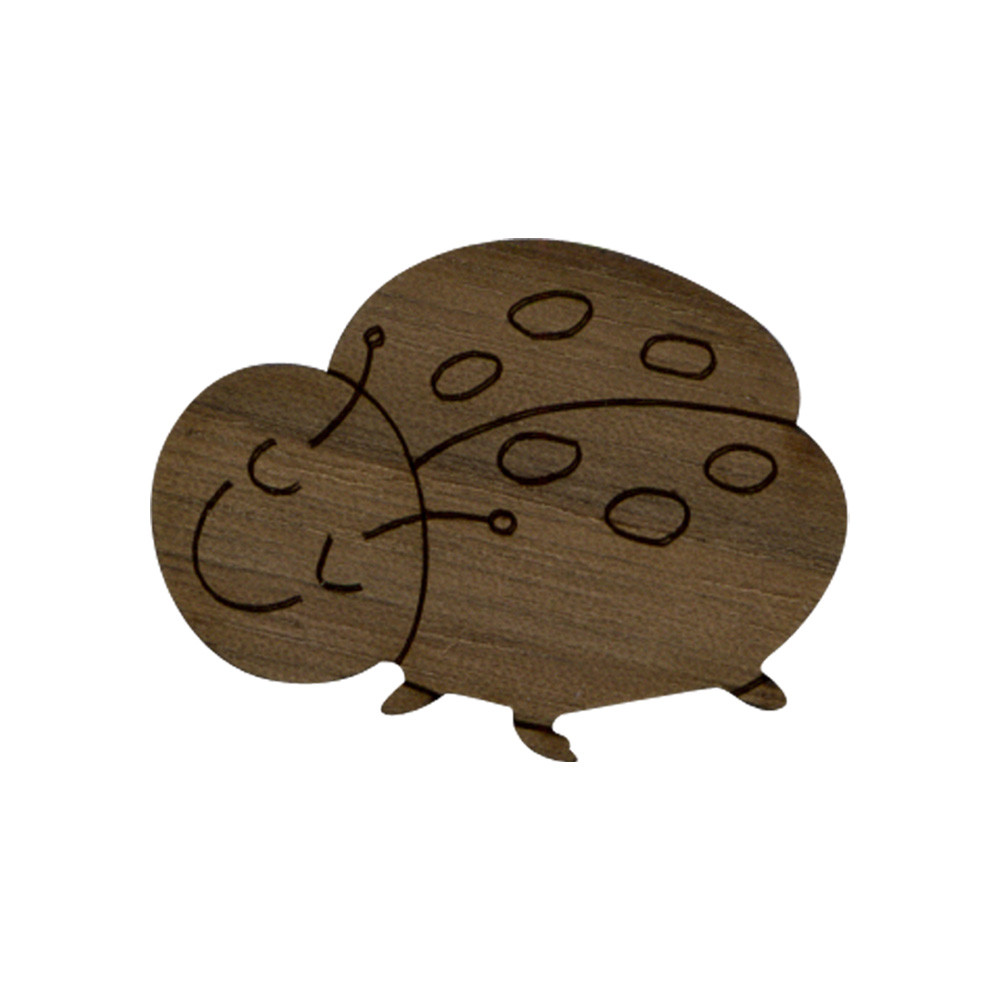 Wooden Lady Bug Symbol