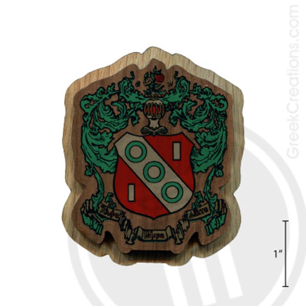 Alpha Gamma Delta Large Raised Wooden Crest