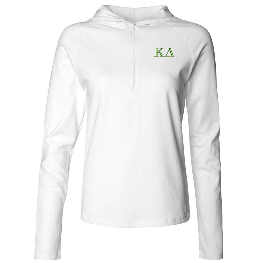 Sorority Embroidered Bella Half Zip Hooded Pullover