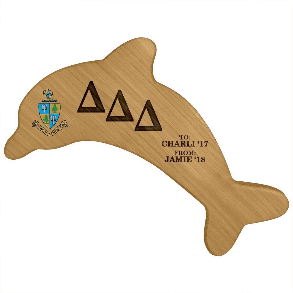 Delta Delta Delta Dolphin Paddle Plaque