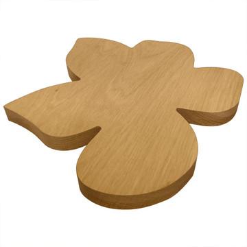 Blank Wooden Violet Board or Plaque Side