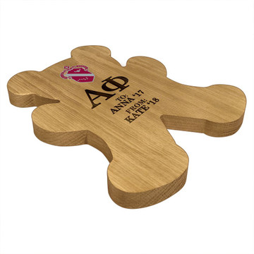 Alpha Phi Bear Paddle Plaque Side