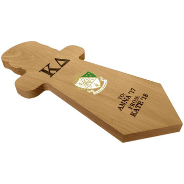 Kappa Delta Dagger Paddle Plaque Side