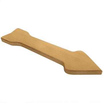 Blank Arrow Symbol Oak Plaque Side