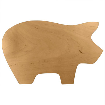 Blank Wooden Pig Board or Plaque