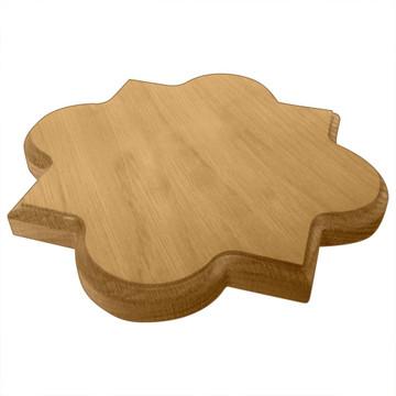 Phi Mu Quatrefoil Board or Plaque Side