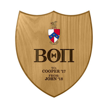 Beta Theta Pi Shield Paddle Plaque